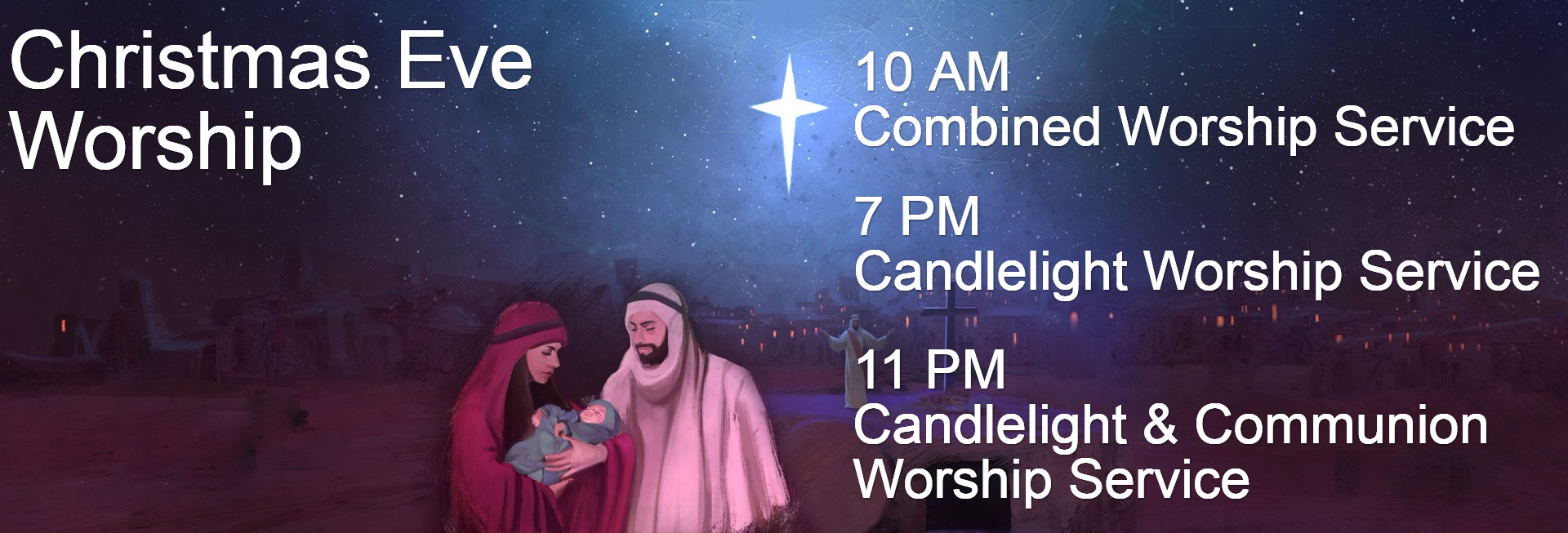 A Savior is Born Christmas Church Website Banner