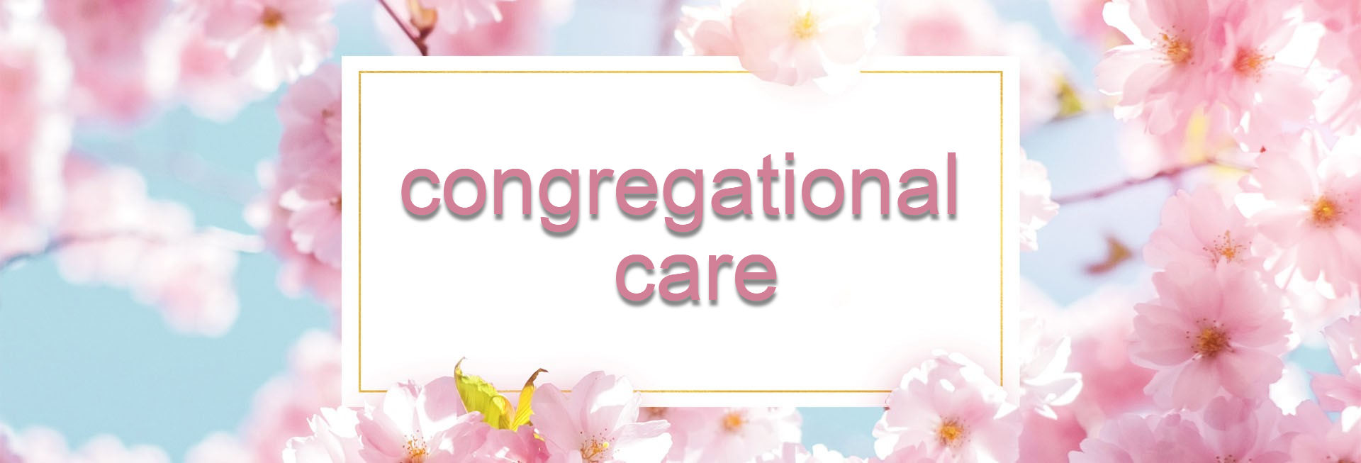 Mother's Day Cherry Blossom Church Website Banner